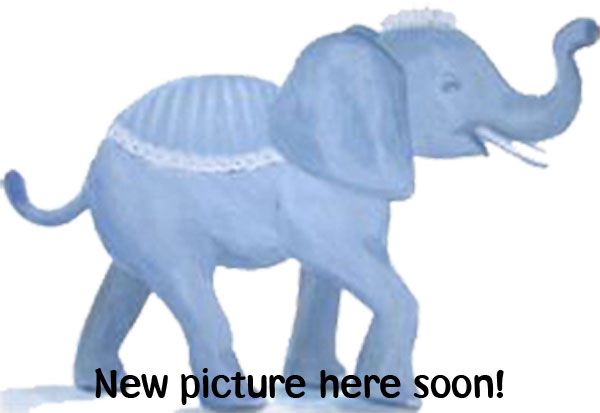 Förvaringslåda i tovad ull med elefant - blå