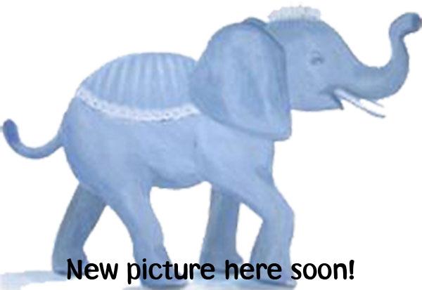 Mobil i trä - elefant - blå