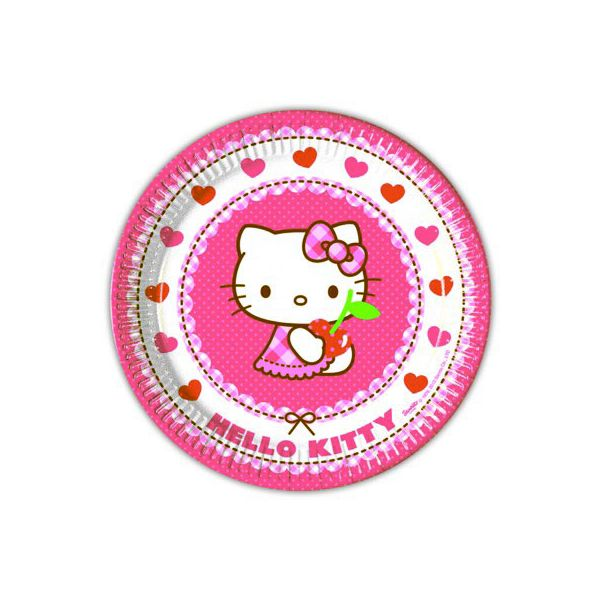 Kalastallrikar - Hello Kitty - 8 st