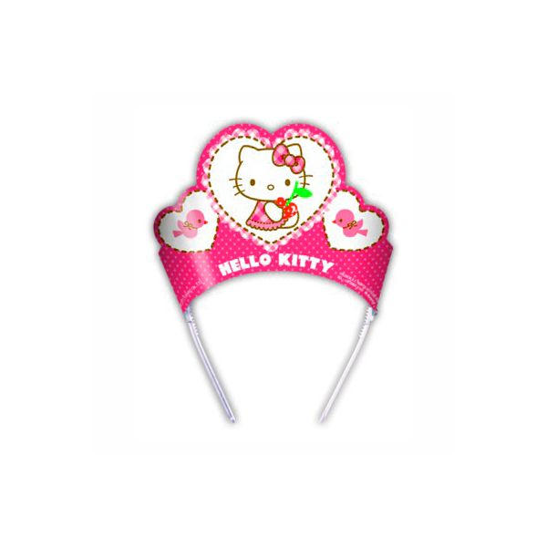 Partyhattar - Hello Kitty-tiaror - 6 st