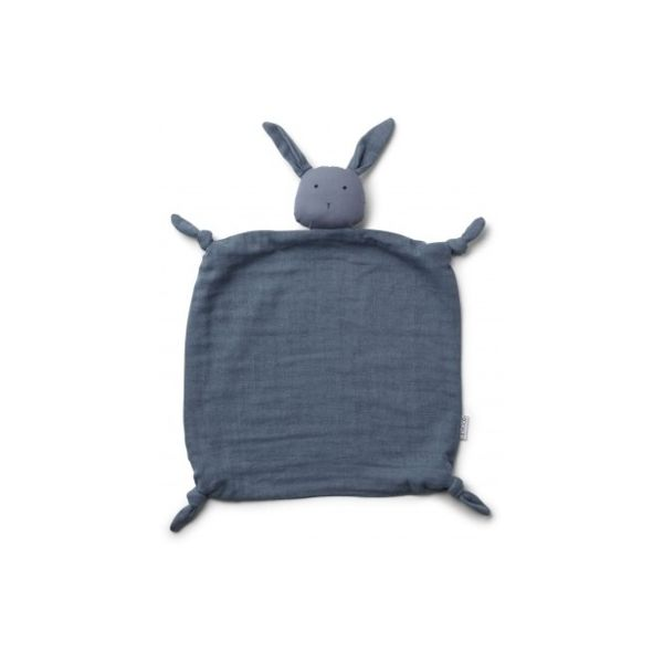 Snuttefilt - Cuddle Cloth Rabbit Blue Wave - ekologisk från Liewood