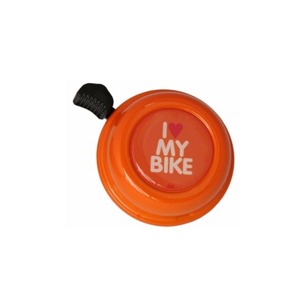 Ringklocka till cykel - orange med I love my bike - Liix