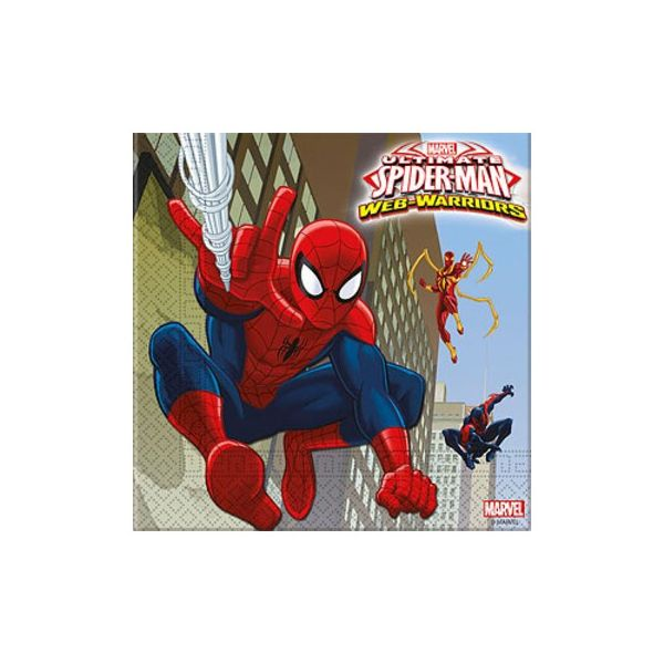 Kalasservetter - Spiderman - 20 st