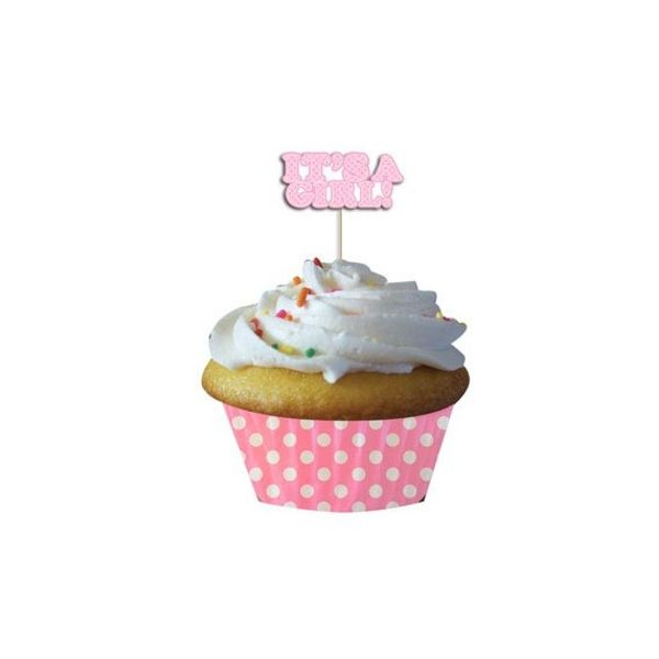 Muffinsformar - ljusrosa - It's a girl - 12 st