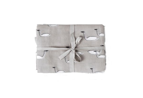Amningsfilt/handduk - swan grå - 3 st - ekologisk från ferm LIVING