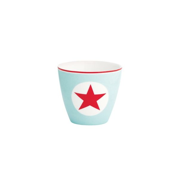 Lattemugg, mini - Star pale blue - GreenGate