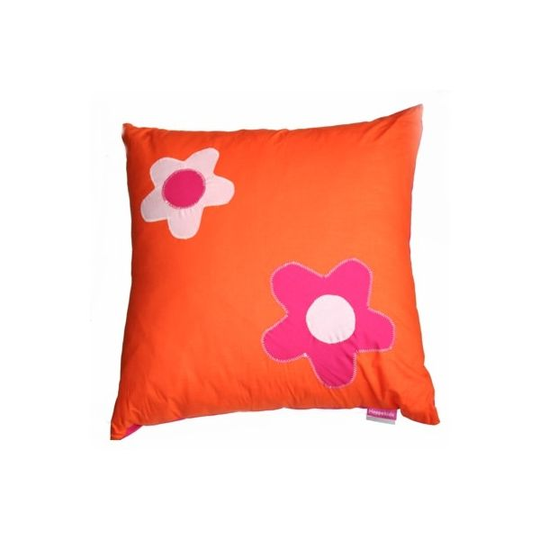 Kudde med blommor - orange - Flower Power