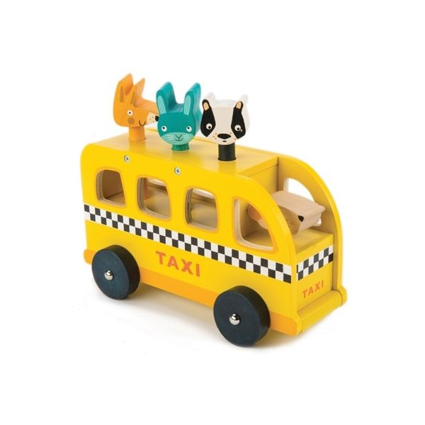Taxibuss med passagerare - Tender Leaf Toys
