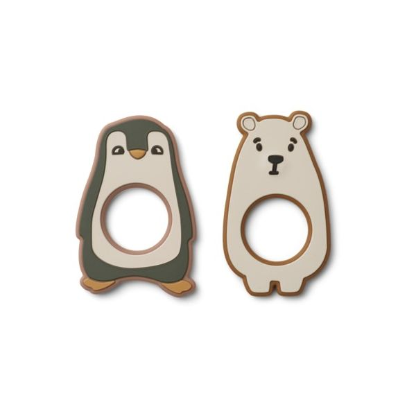 Bitleksak -  Gili teether - 2 pack - Hunter green multi mix - Liewood