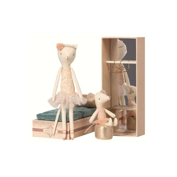Dancing Cat & Mouse in shoebox - Maileg