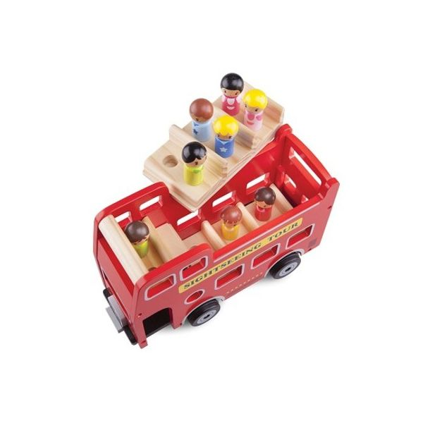 Sightseeingbuss med passagerare - New Classic Toys