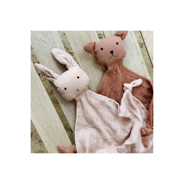 Snuttefilt - Yoko mini cuddle cloth 2-pack - Rose mix - ekologisk från Liewood