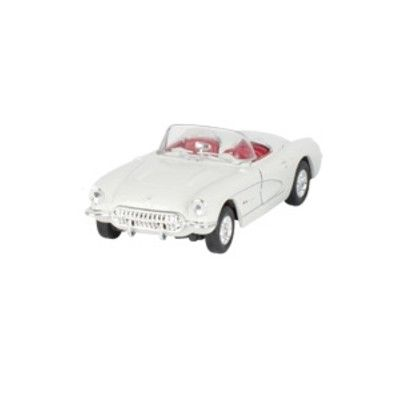 Bil i metall - Chevrolet Corvette - creme utan tak (1957)