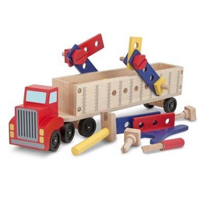 Lastbil i trä med verktygslåda - röd - Melissa & Doug