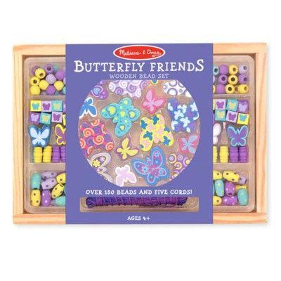 Träpärlor - fjärilar - Melissa & Doug