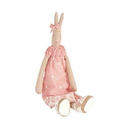 Kanin - medium - Elisa med röd klänning - Maileg