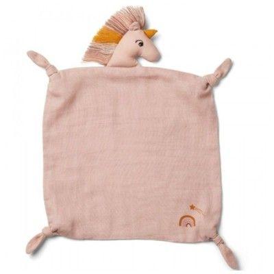 Snuttefilt - Agnete cuddle cloth, Unicorn Sorbet rose - ekologisk från Liewood