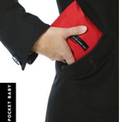Barnsits i röd - In the pocket baby