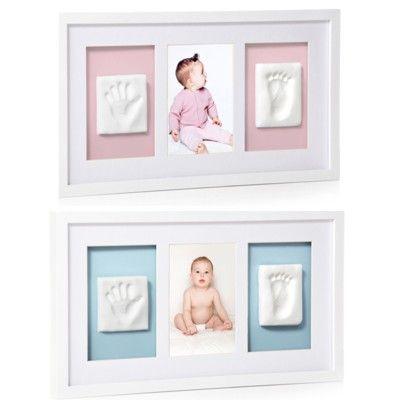 Fotoram med två avtryck - vit