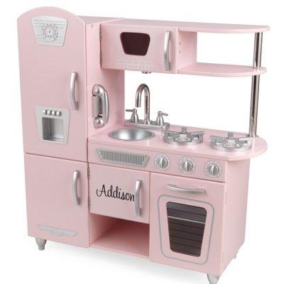 Kök i retrostil - rosa - Obs! med namn