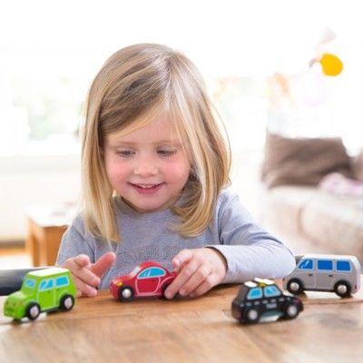 Träbilar - 4 bilar - New Classic Toys