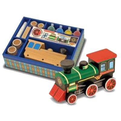 Lokomotiv, i trä - bygg och måla själv