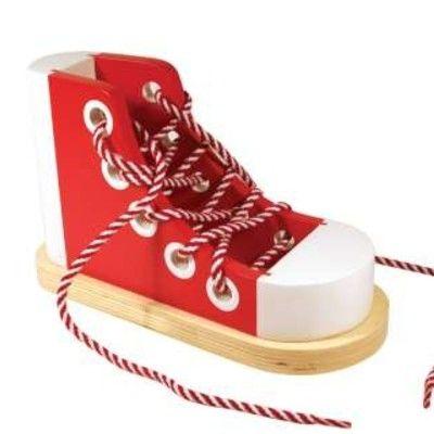Lär dig knyta skor - röd