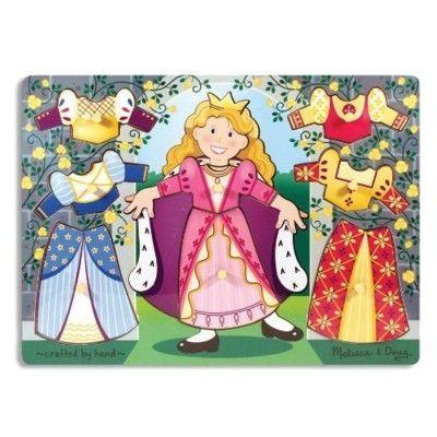 Knopp-pussel - Klä på prinsessan