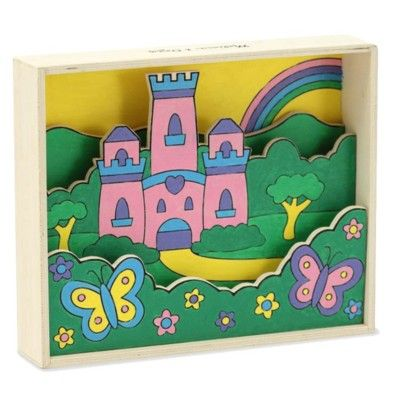 3D tavla - slott -  måla efter nummer