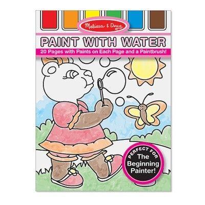 Måla med vattenfärg - rosa