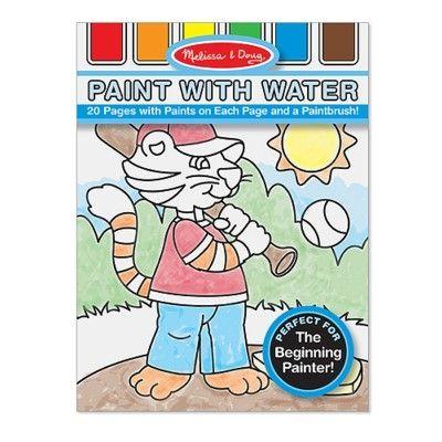 Måla med vattenfärg - blå