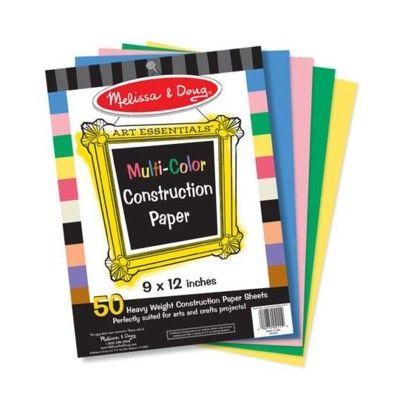 Pysselpapper i flera färger, 50 ark