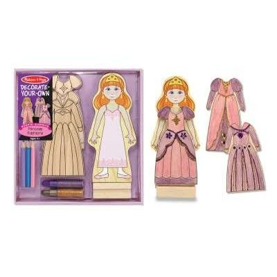 Prinsessa i trä - måla och dekorera kläder