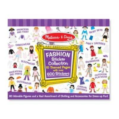 Klistermärken - lila - flickor med kläder