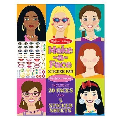 Make a face - ansikten med stickers