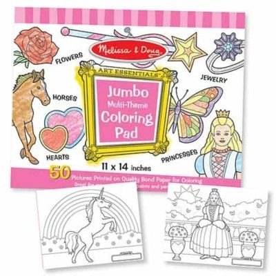 Målarbok jumbo - rosa