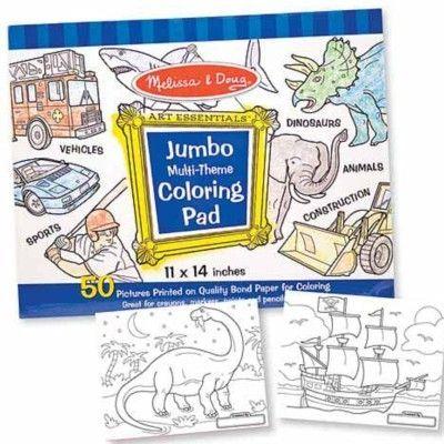 Målarbok jumbo - blå