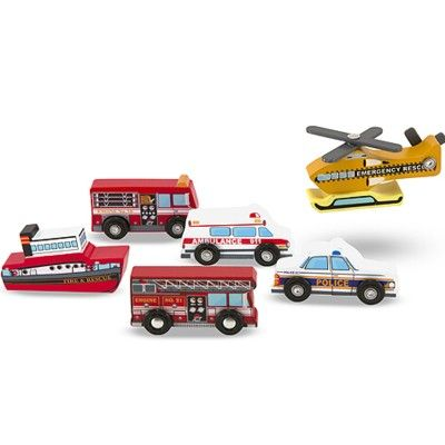 Bilar i trä - 6 räddningsfordon