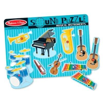 Knopp-pussel med ljud - musikinstrument - Melissa & Doug