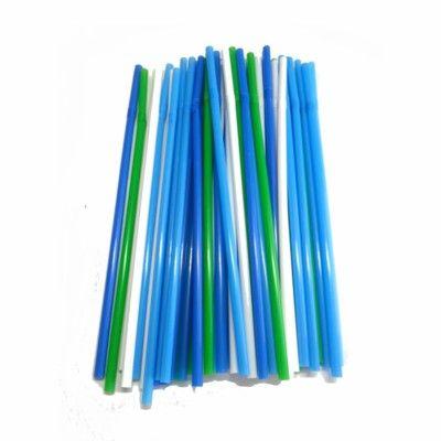 Sugrör - grön/blå/vit