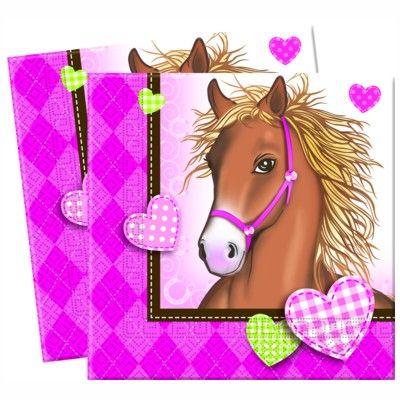 Kalasservetter - häst - 20 st