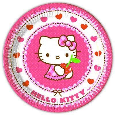 Kalastallrikar - Hello Kitty - 8 st