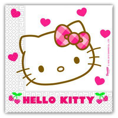 Kalasservetter - Hello Kitty - 20 st