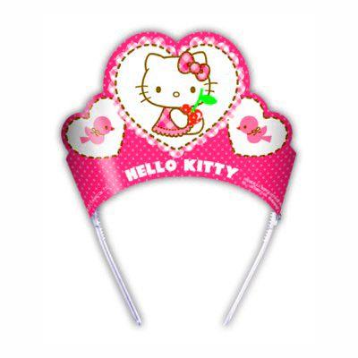 Partyhattar - Hello Kitty-tiaror - 6 st