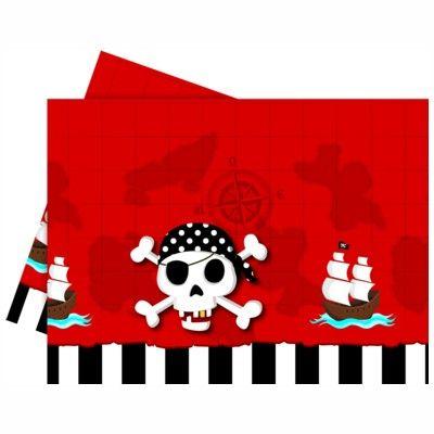 Kalasduk - pirat röd/svart
