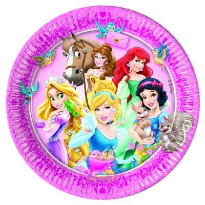Kalastallrikar - Disneyprinsessor - 8 st