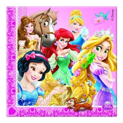 Kalasservetter - Disneyprinsessor - 20 st