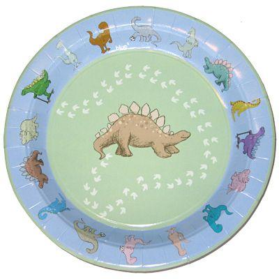 Kalastallrikar med dinosaurier