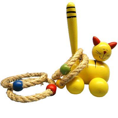 Ringspel, gul katt