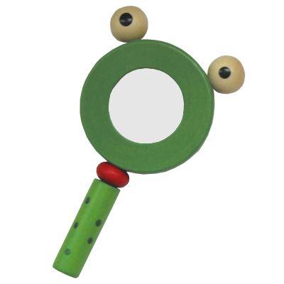 Förstoringsglas, grön groda
